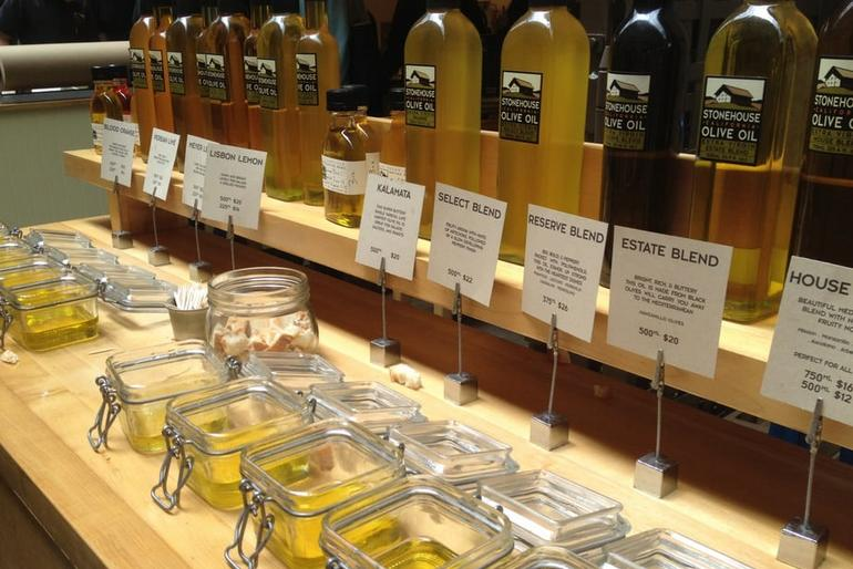 San Francisco Ferry Building Olive Oil Tasting