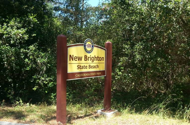 New Brighton State Beach Entrance