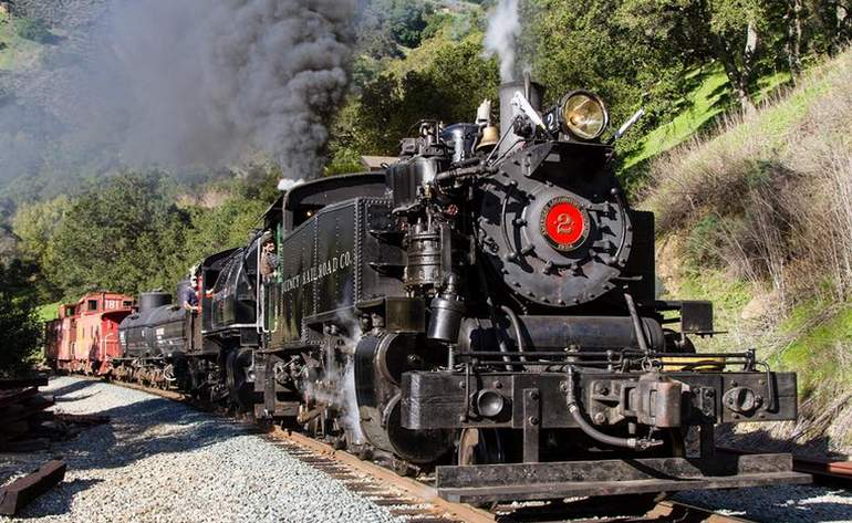 Niles Canyon Railroad Steam Train