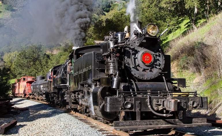 Niles Canyon Railroad Steam Train