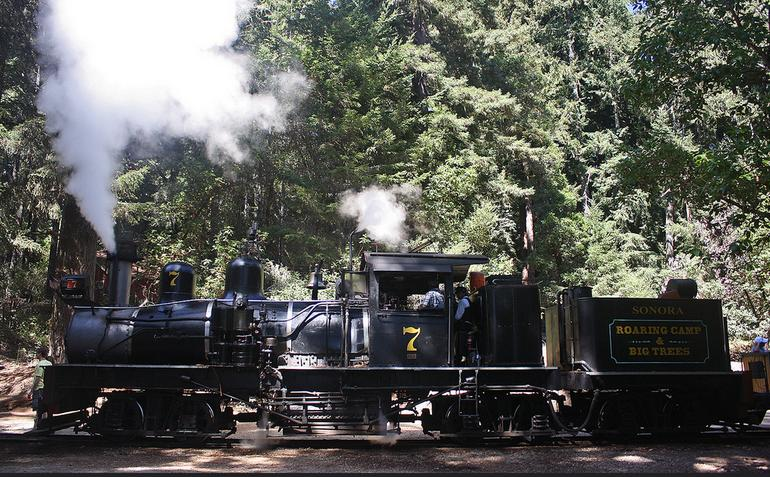 Roaring Camps Railway Steam Train