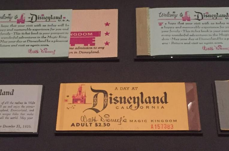 Disneyland Tickets over the years