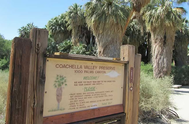 Coachella Valley Preserve Entrance