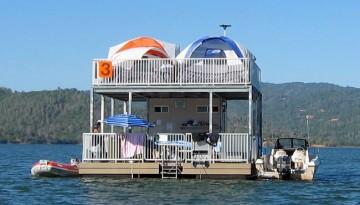Lake Oroville Floating Campsites Fishing Boating