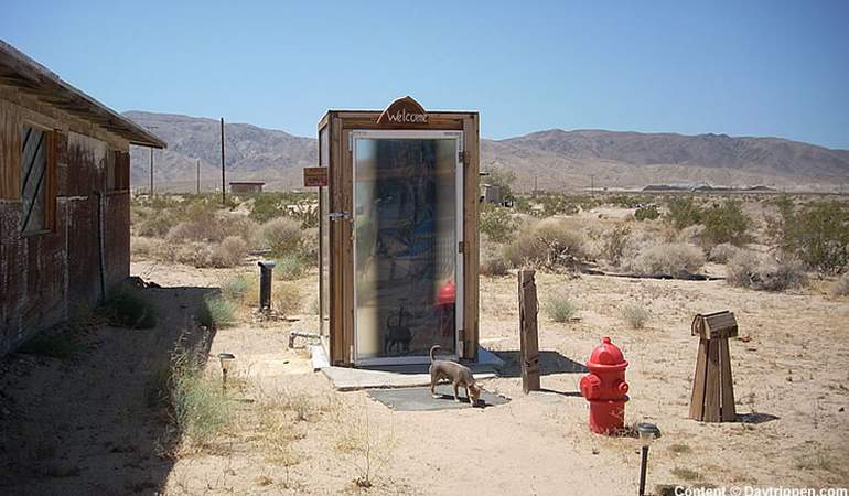 Glass Outhouse
