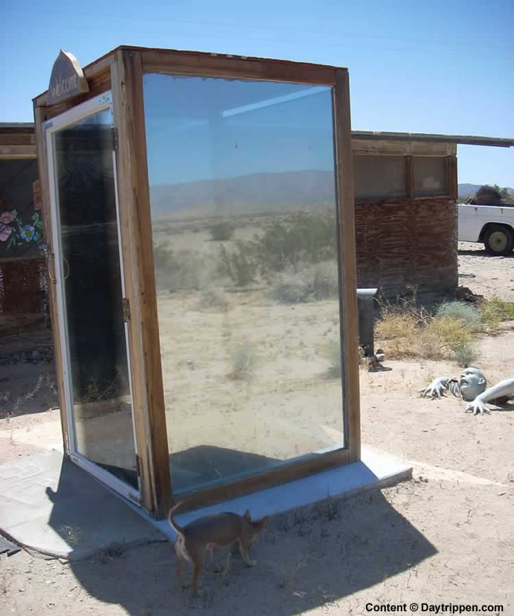 Glass Outhouse 29 Palms California
