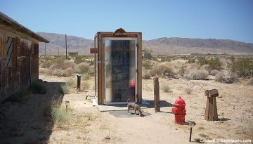Glass Outhouse Art Gallery 29 Palms California