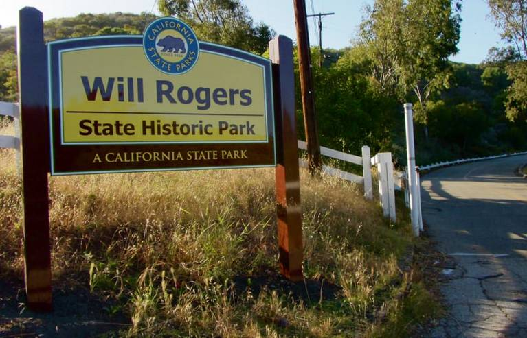 Will Rogers State Historic Park Entrance