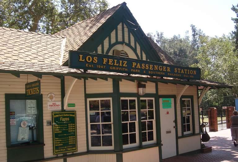 Griffith Park & Southern Railroad Los Feliz passenger station