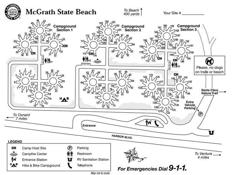 McGrath State Beach Campground Map