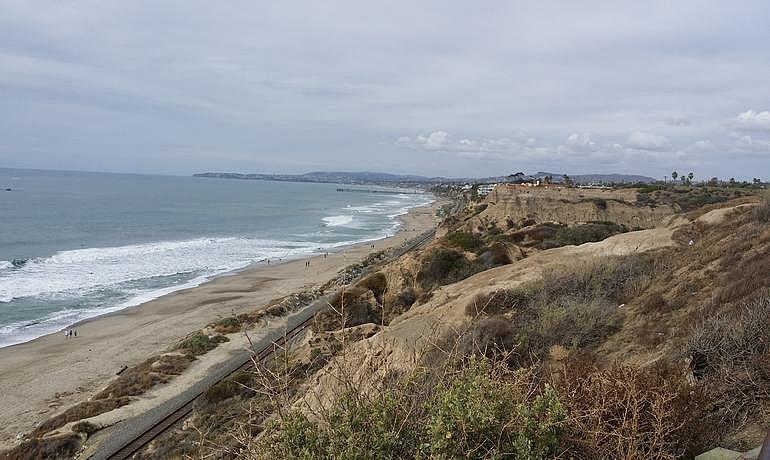 View from San Clemente State Beach Campground