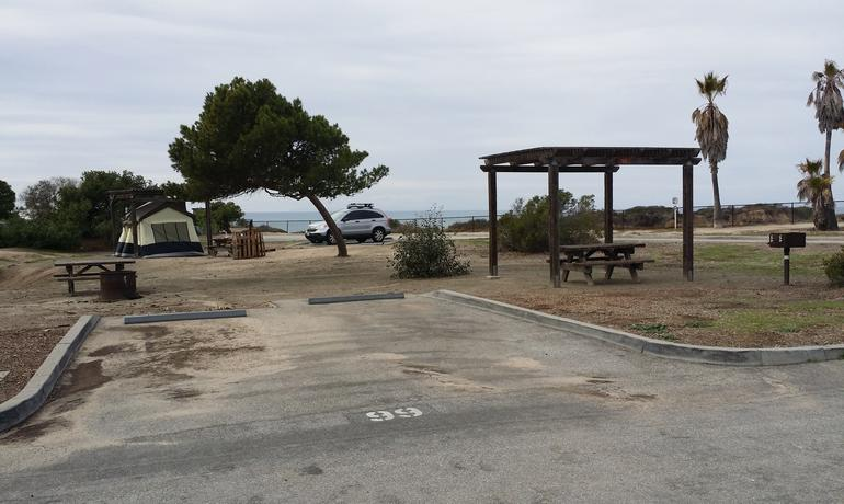 San Clemente State Beach Campground Tent site
