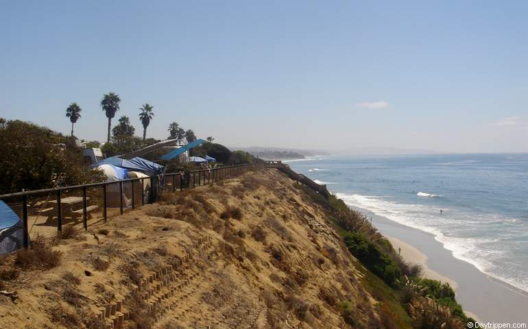 San Elijo State Beach Blufftop Campsites