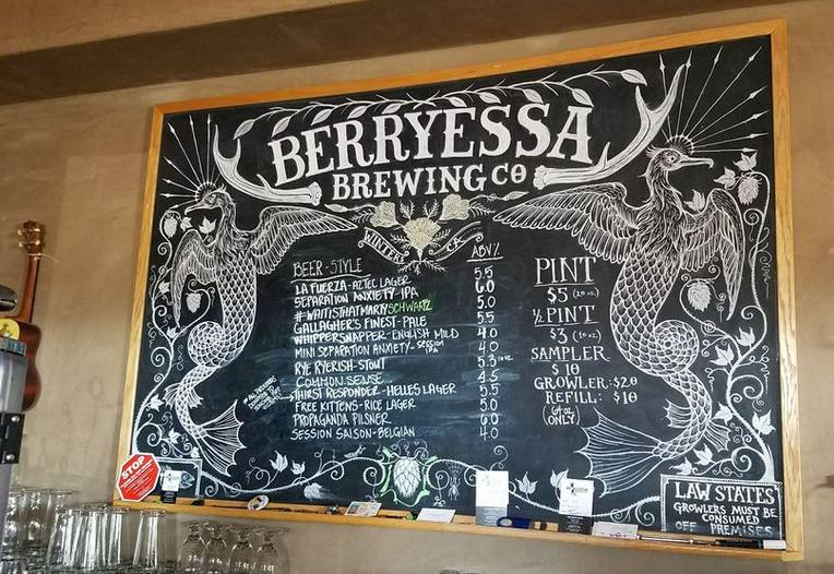 Berryessa Brewing Company Downtown Winters California