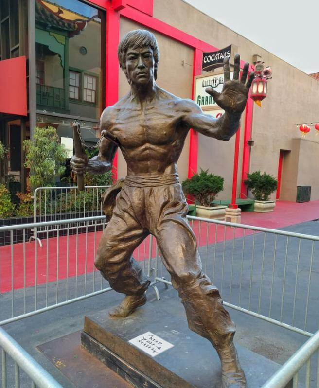 Bruce Lee Statue Los Angeles Chinatown
