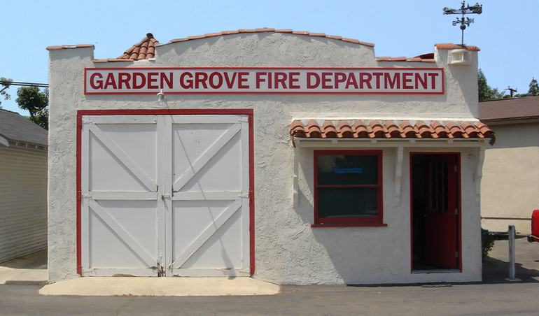 Replica of of the first fire station in Garden Grove