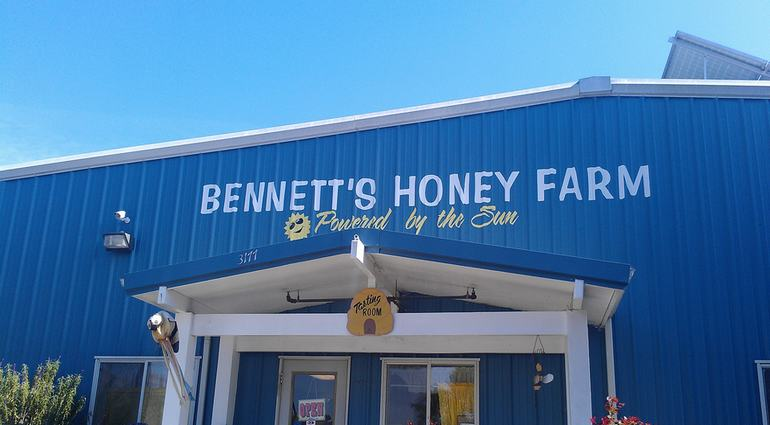 Stop at Bennett's Honey Farm for a Free Taste