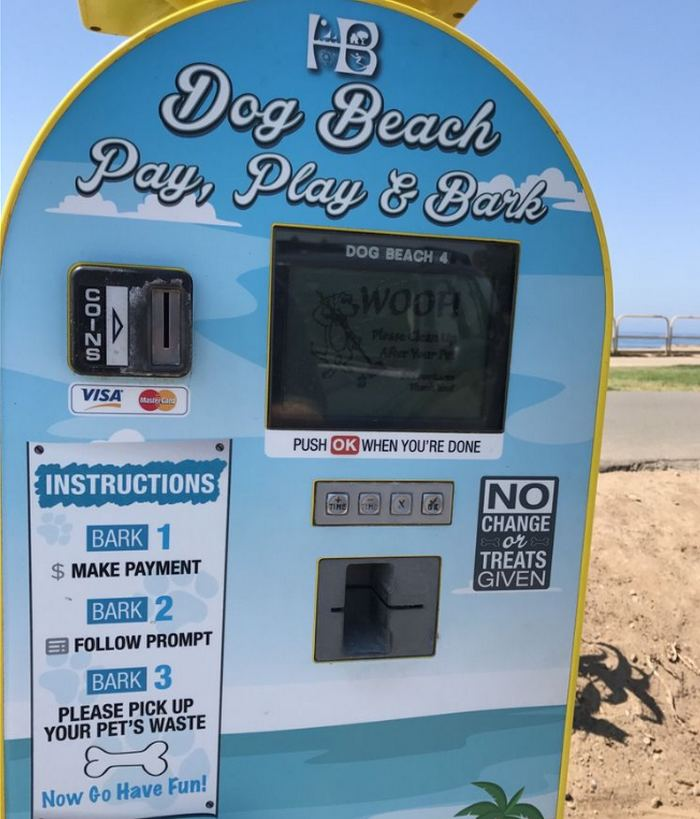 Huntington Dog Beach Parking Meter