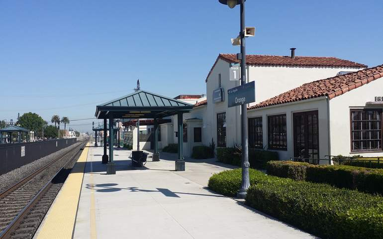Orange train station