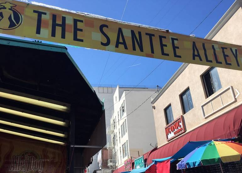 Santee Alley in LA Fashion District