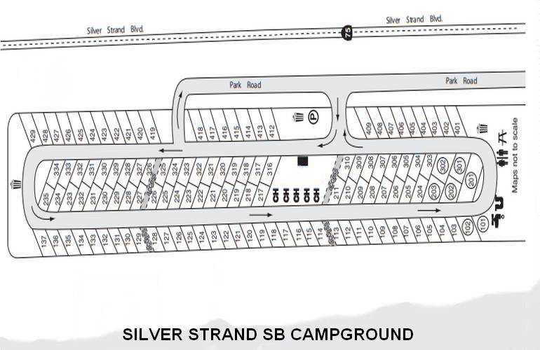 Silver Strand State Beach San Diego Campground Map