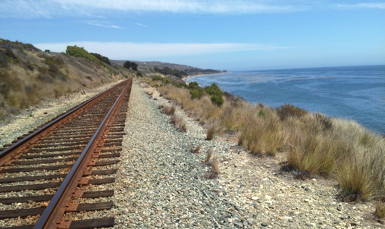 Pacific Surfliner Route North of Santa Barbara