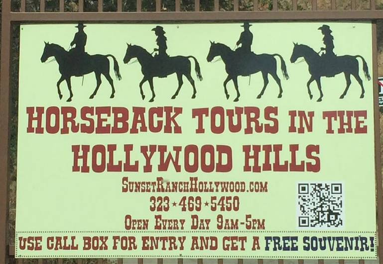 Sunset Ranch Hollywood Entrance Sign