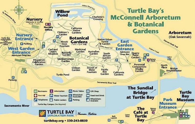Turtle Bay Exploration Park Map