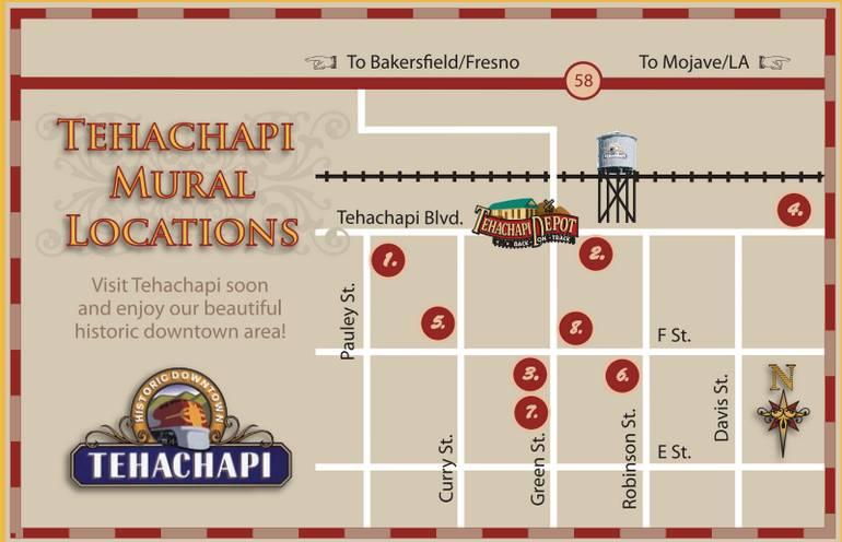 Tehachapi Murals Map