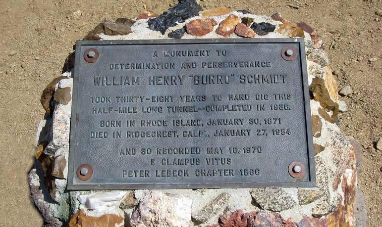 Burro Schmidt Plaque