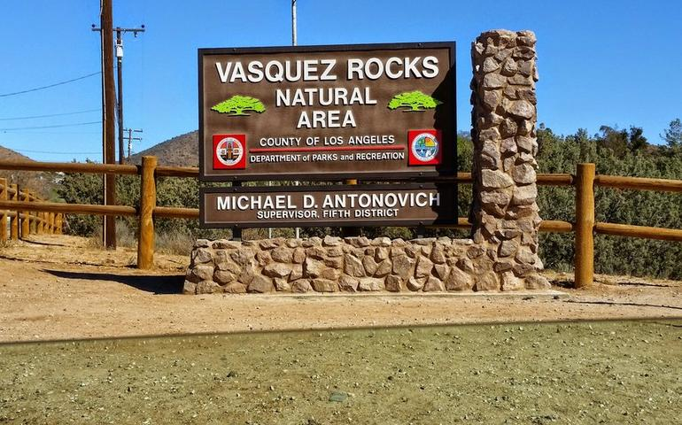 Vasquez Rocks Natural Area Entrance