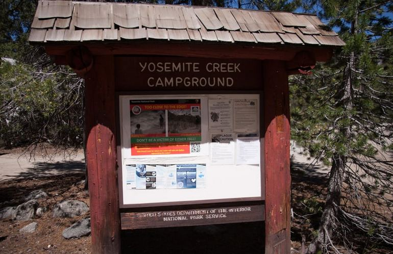 Yosemite Creek Campground Entrance