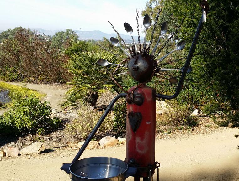 Human Sundial byAnne Little Alta Vista Gardens