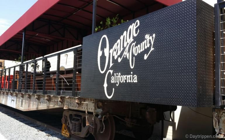 Anaheim Packing House Outdoor Dining Train Car