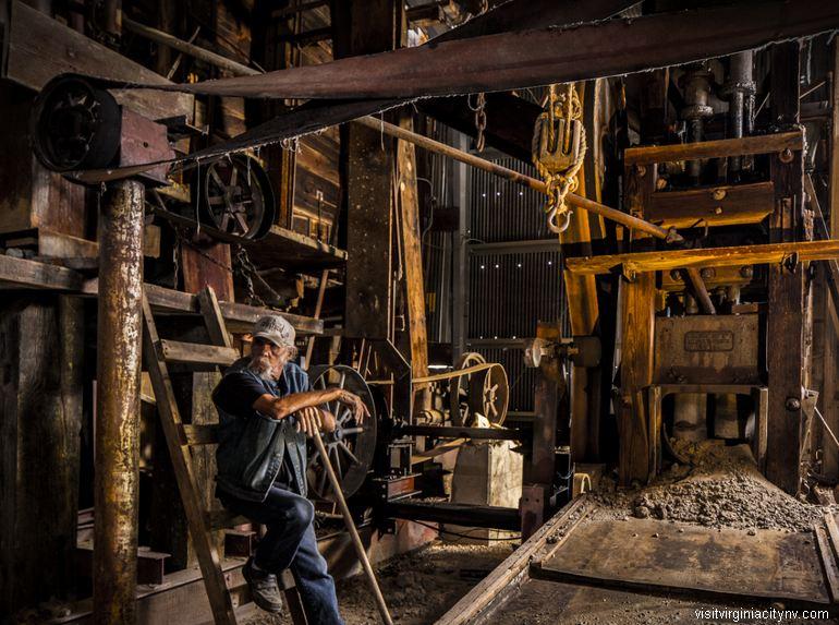 Comstock Gold Mill Virginia City