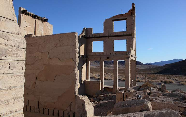 Rhyolite Ghost Town Cook Bank