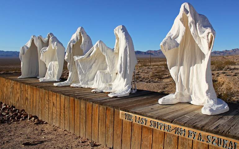 Sculpture The Last Supper Rhyolite Ghost Town