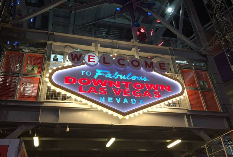 Fremont Street Experience Welcome to Downtown Las Vegas Sign