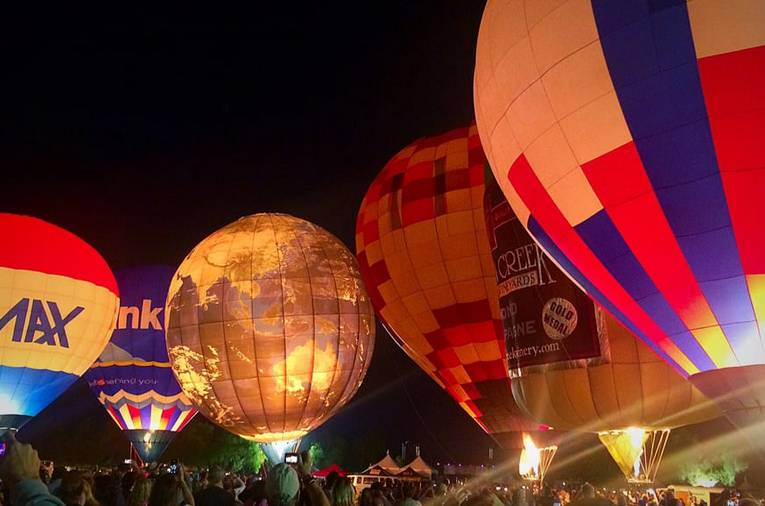 Evening Glow Balloon Launch