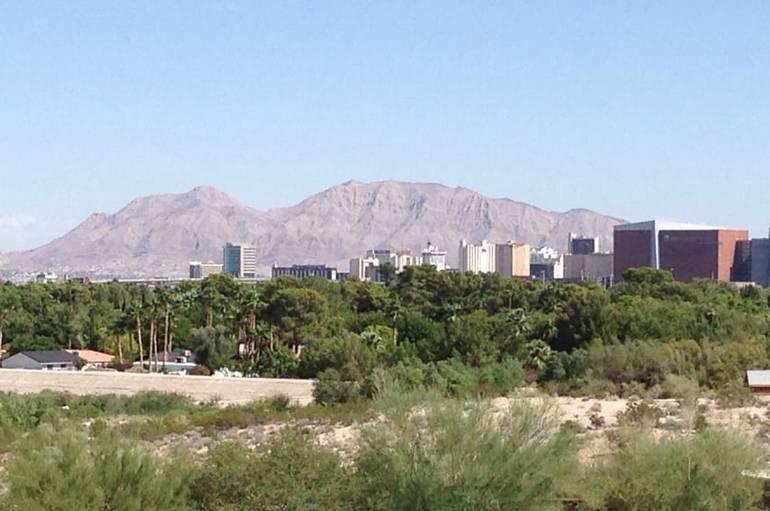 View of Las Vegas Strip from Springs Preserve
