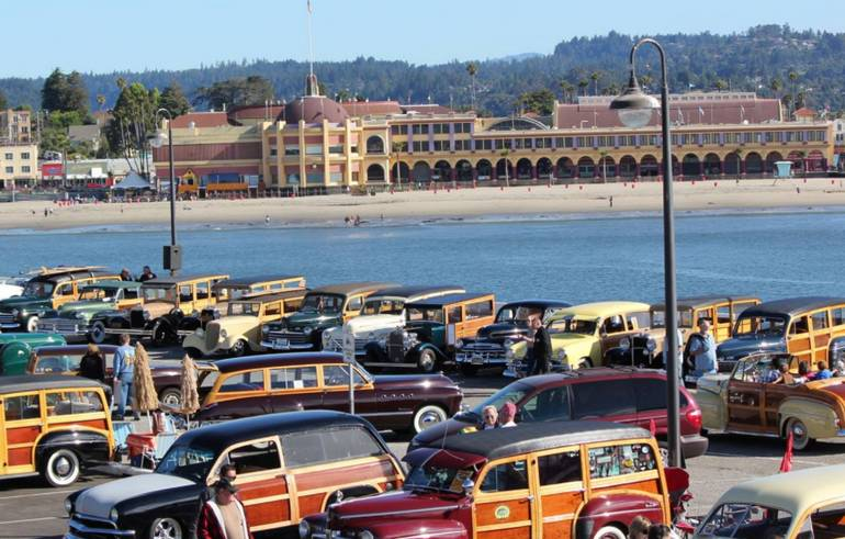 Woodies on the Wharf Santa Cruz California