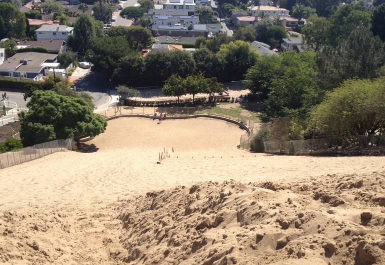 Top of Sand Dune Park Manhattan Beach