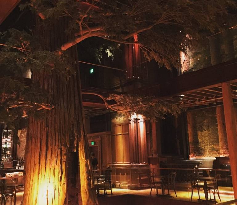 Clifton's Downtown Los Angeles Redwood Tree