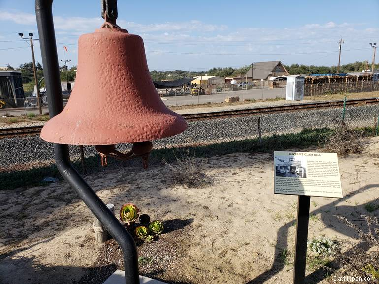 Oceano Train Depot Lovern's Clam Bell