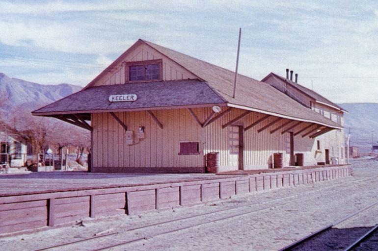 Keeler Train Depot Carson and Colorado Railroad 1958