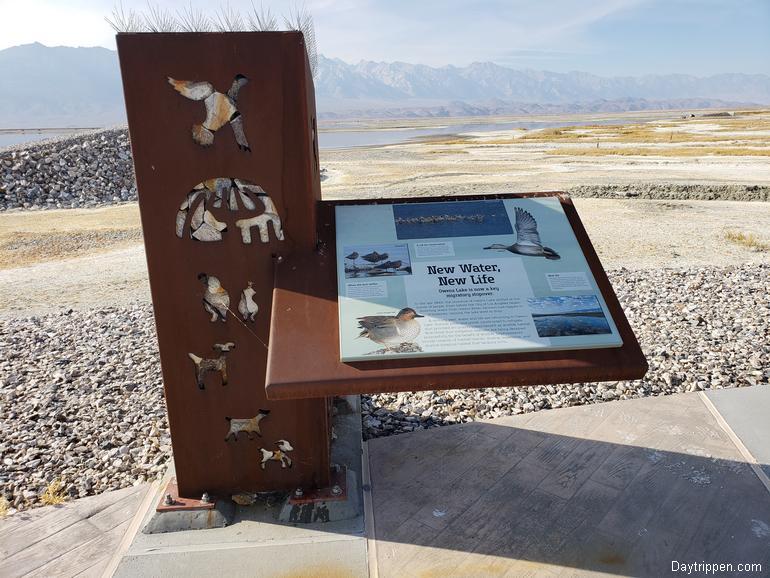 "Owens Lake Plaza Kiosk ""New Water New Life"""