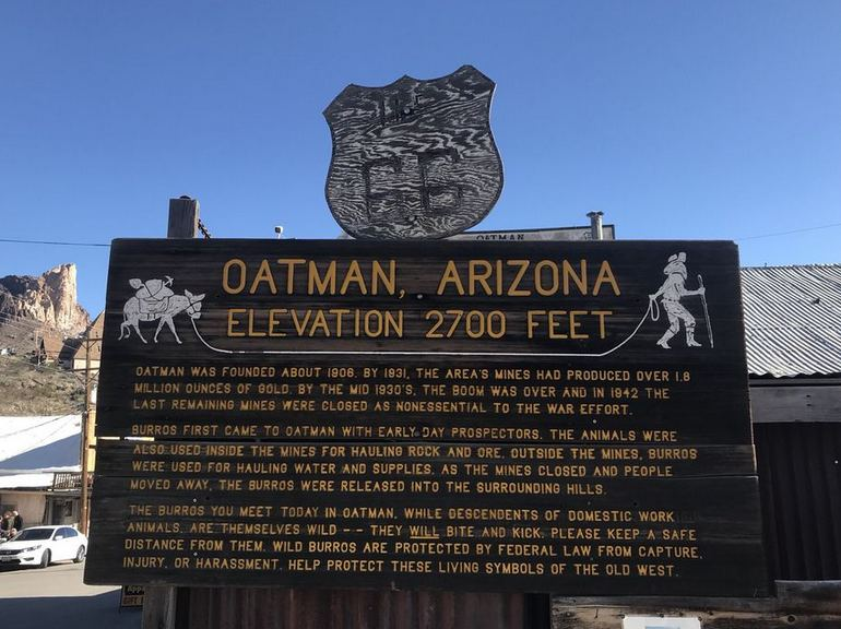 Oatman Arizona History