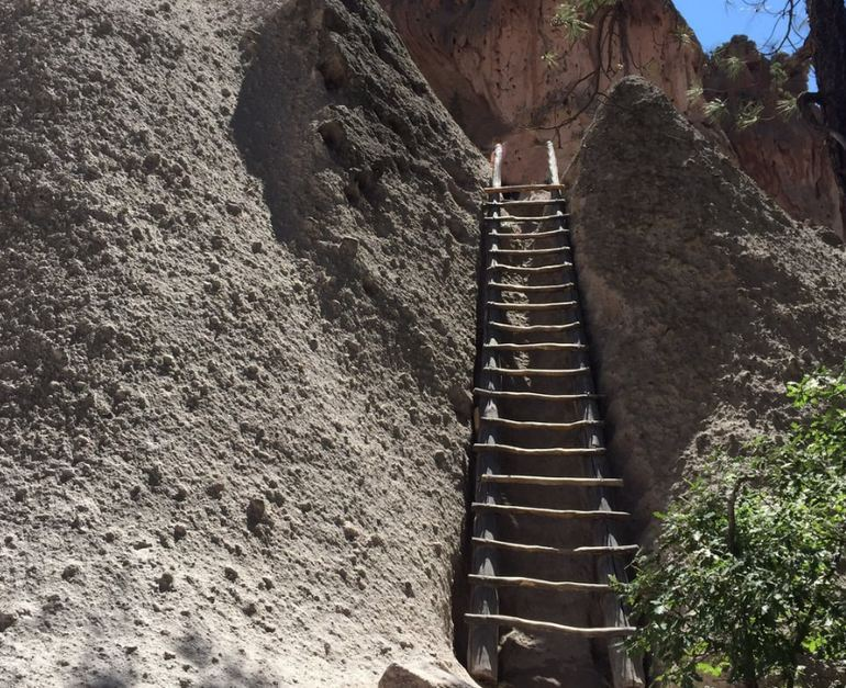 Ladder to Cave Dwellings