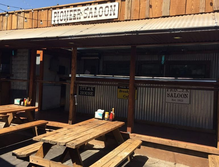 Pioneer Saloon Outdoor Dining Area