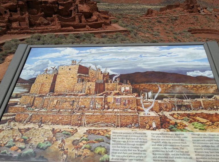 Wupatki Pueblo Then and Now